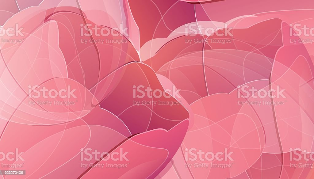 Vector red tulip flowers color background vector art illustration