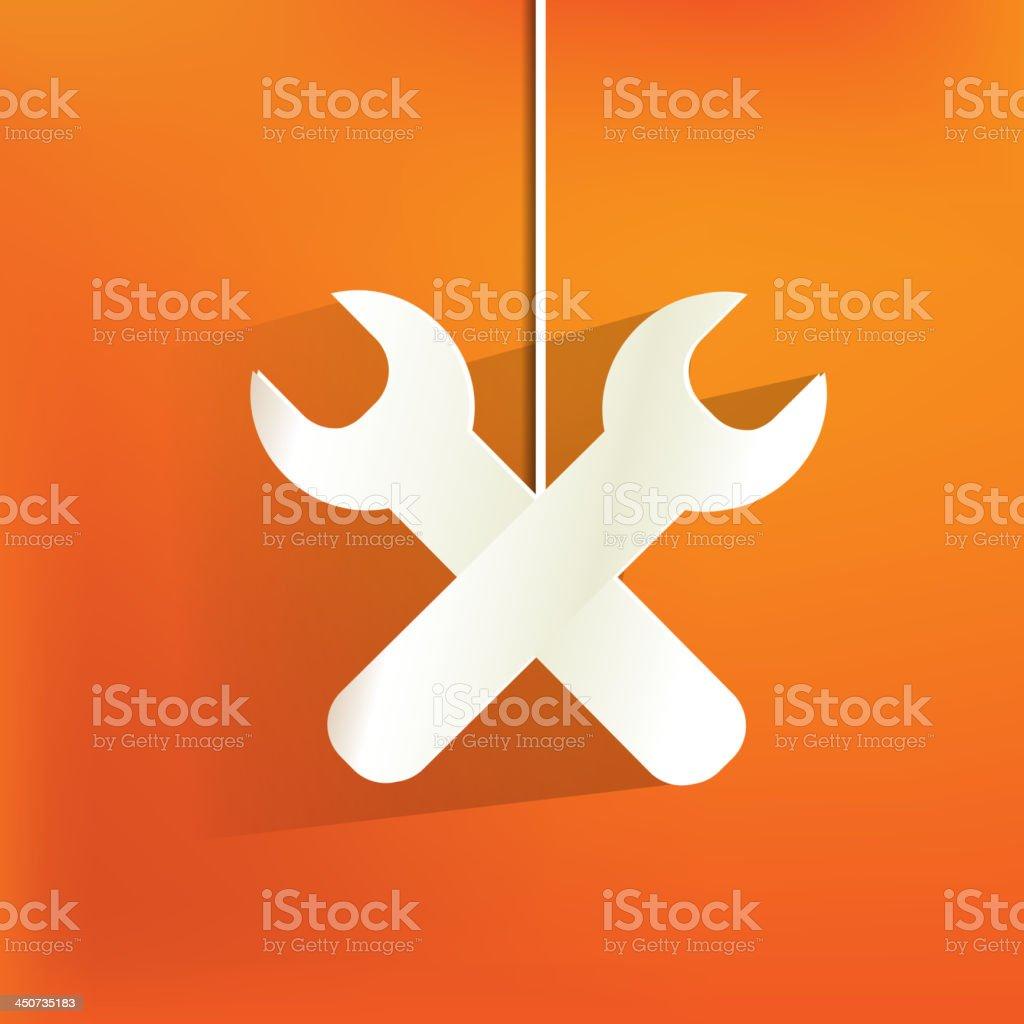 Vector repair web icon,flat design royalty-free stock vector art