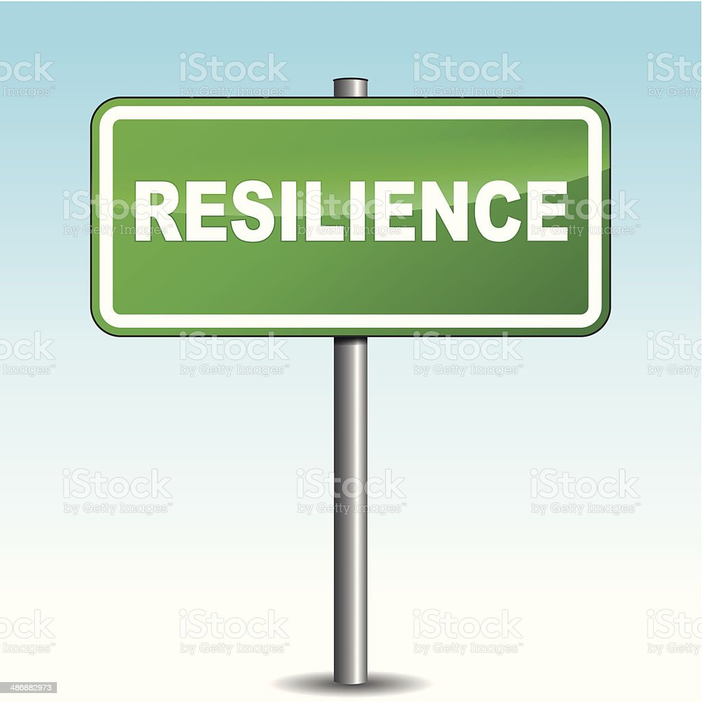 Vector resilience signpost royalty-free stock vector art