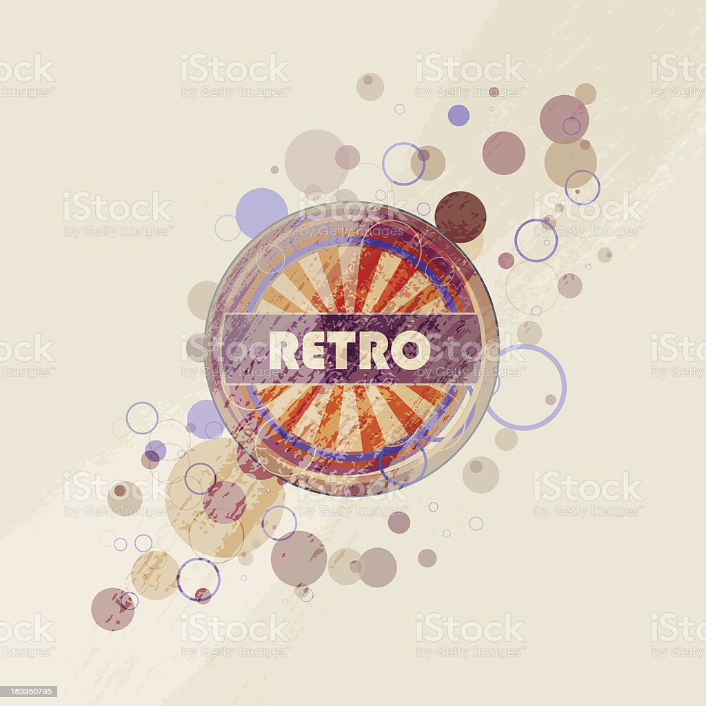Vector retro background royalty-free stock vector art