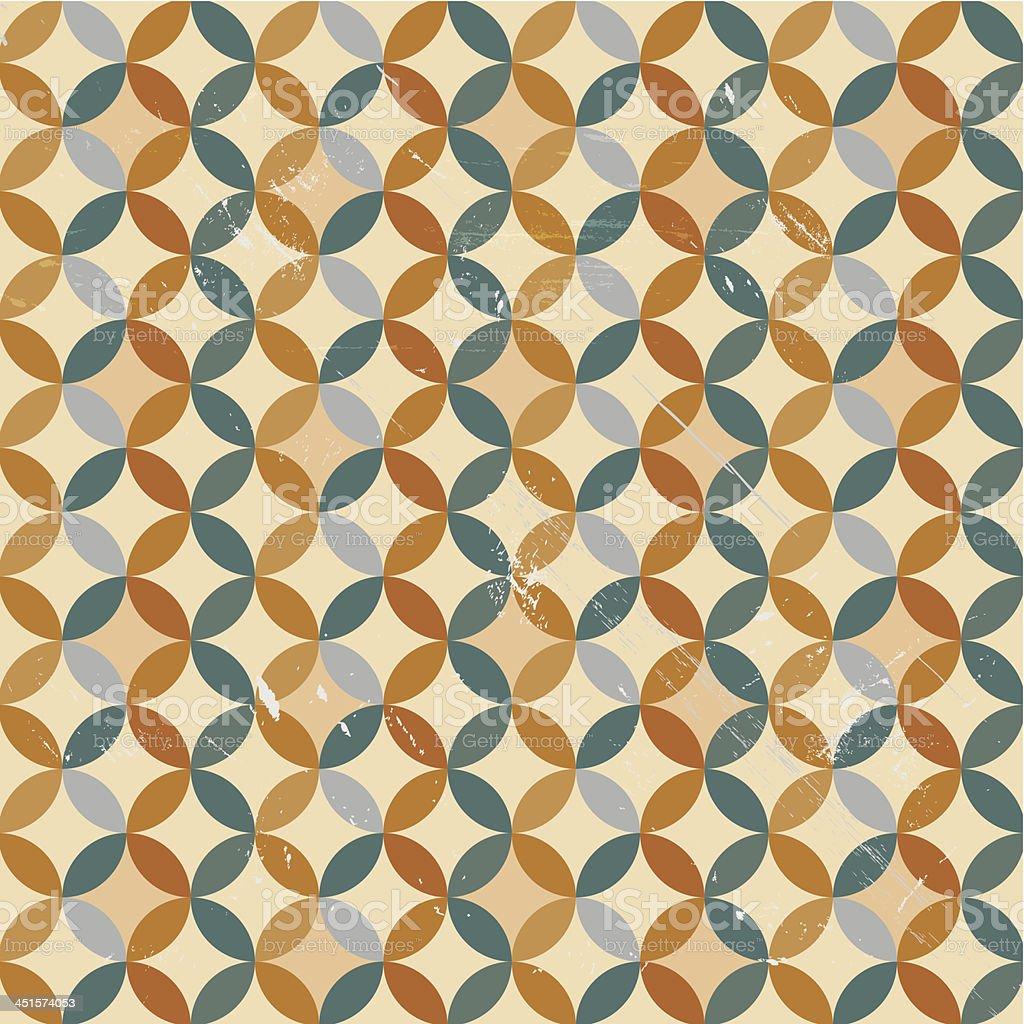 Vector retro circles background royalty-free stock vector art