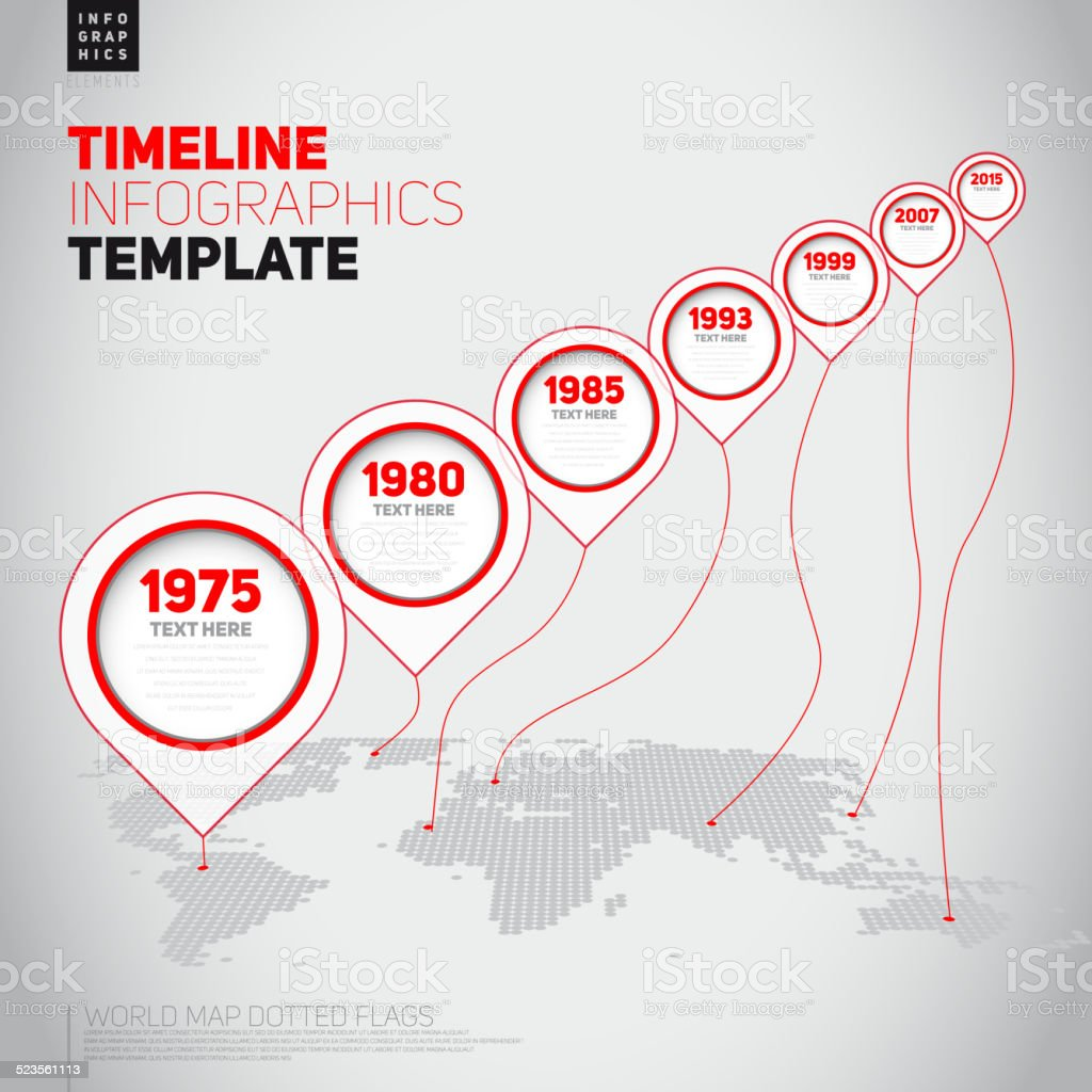 Vector retro Infographic Timeline Template with pointers vector art illustration