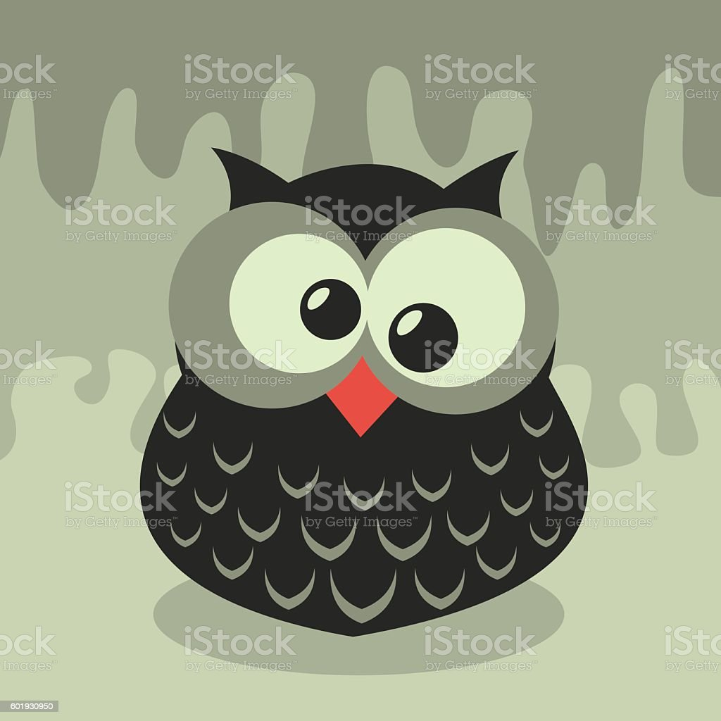 Vector Retro Owl Illustration vector art illustration