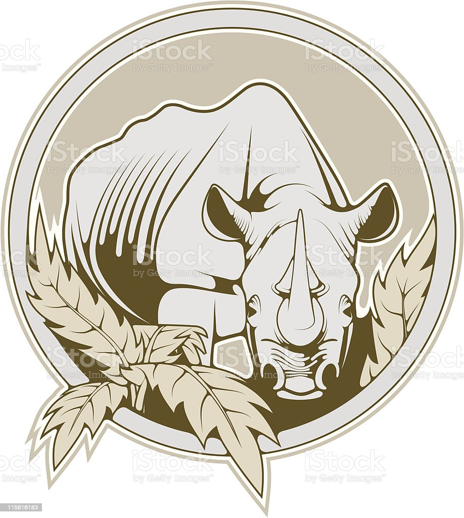 vector rhinoceros royalty-free stock vector art