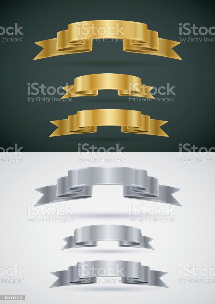 Vector Ribbon Banner Set royalty-free stock vector art