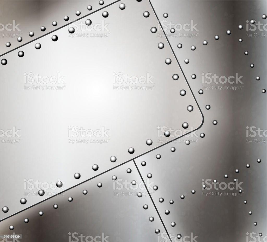 Vector riveted metal background vector art illustration