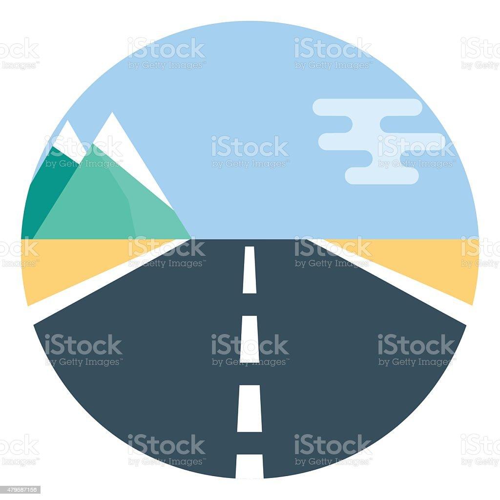 Vector road icon vector art illustration