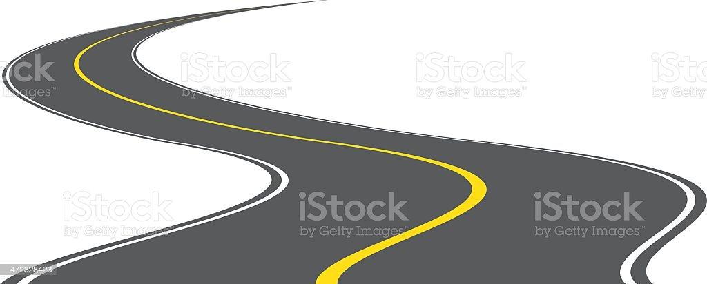 Vector road royalty-free stock vector art
