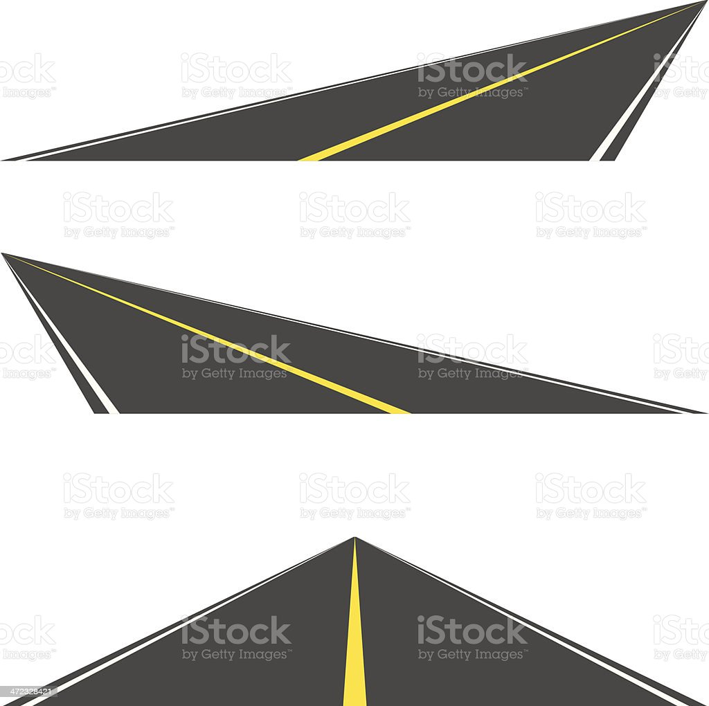 Vector roads vector art illustration
