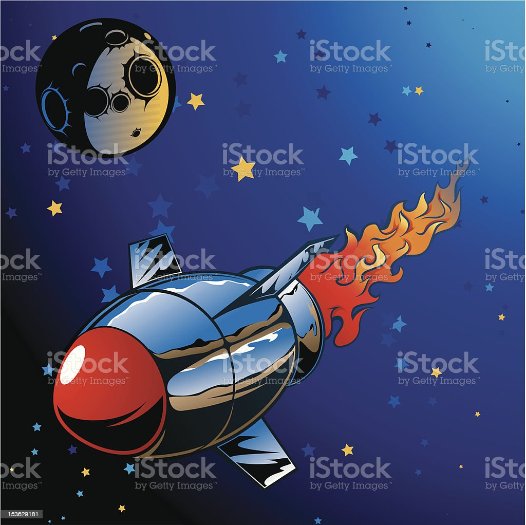 vector rocket royalty-free stock vector art
