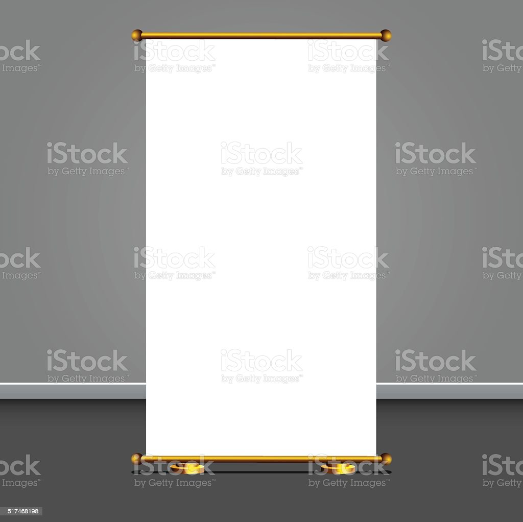 Vector rollup display for designers vector art illustration