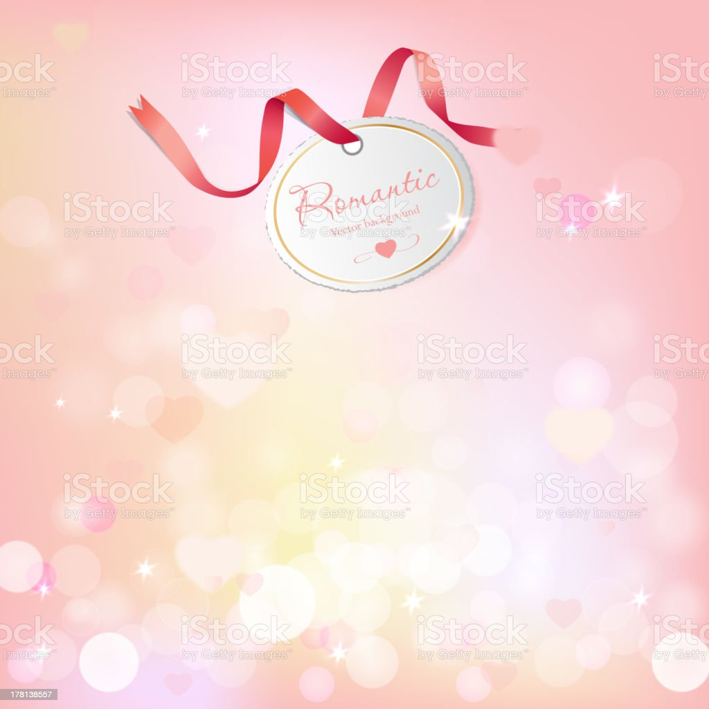 Vector romantic background with beautiful lights royalty-free stock vector art