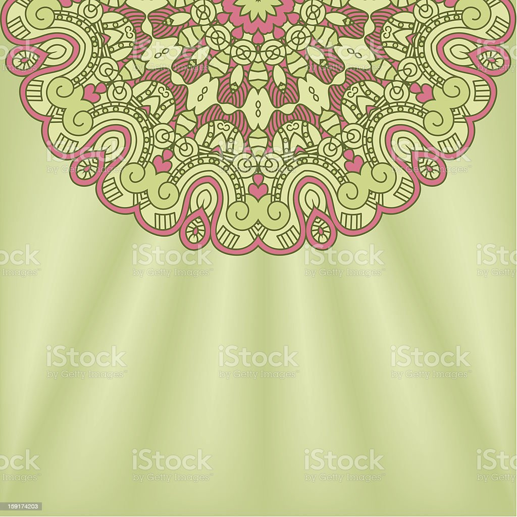 Vector round decorative design element royalty-free stock vector art