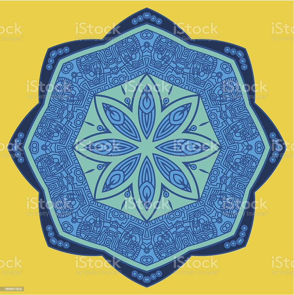 Vector round decorative design element royalty-free stock vector art