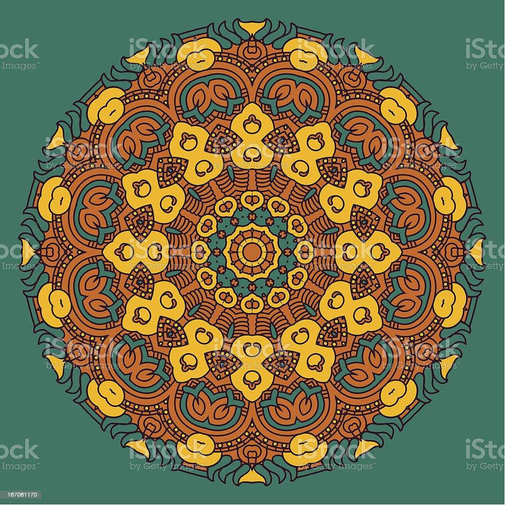 Vector Round Decorative Design Element vector art illustration