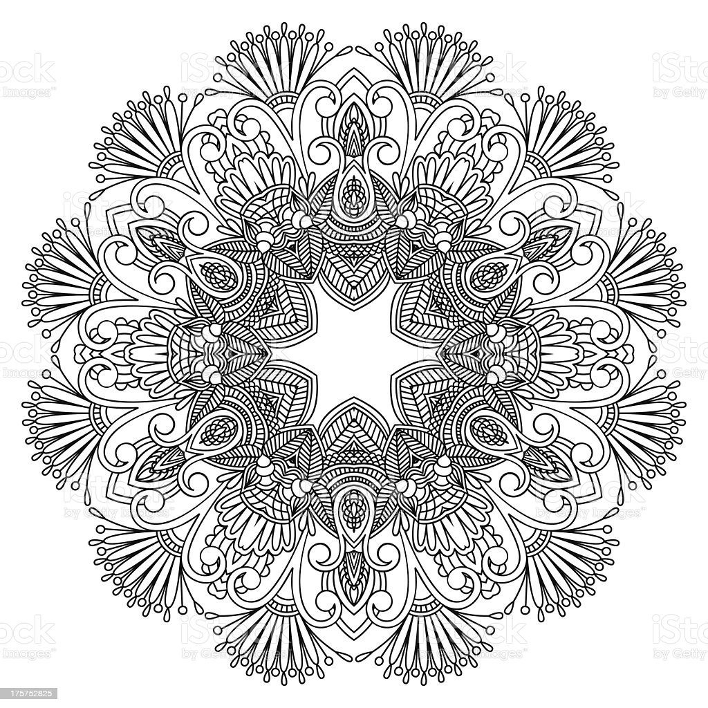 Vector round ornament. royalty-free stock vector art