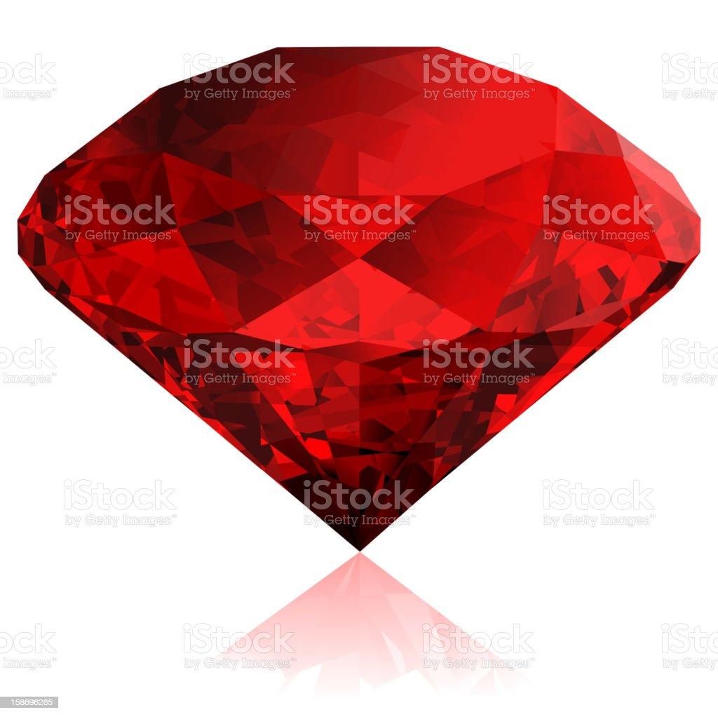 Vector ruby royalty-free stock vector art