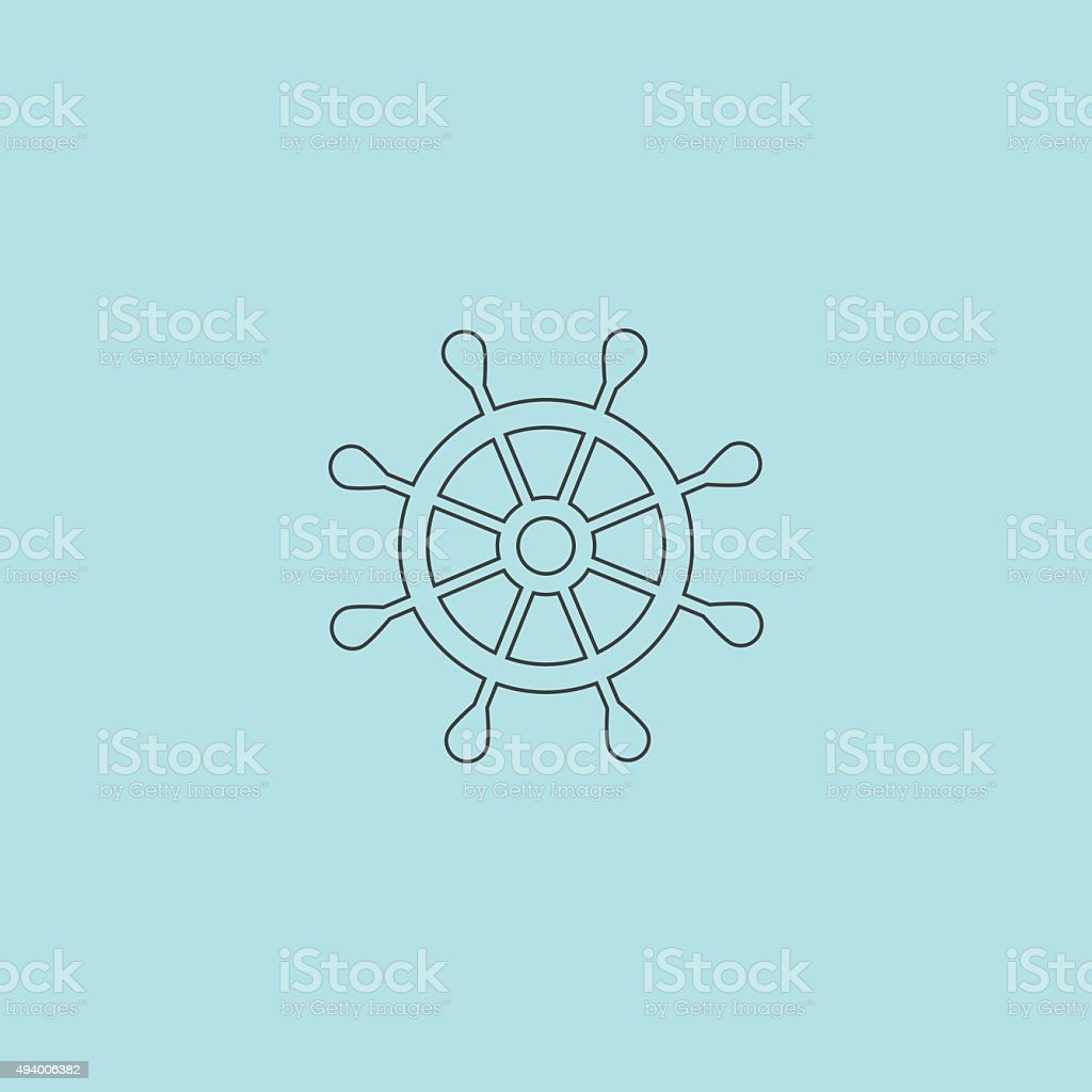Vector rudder web flat icon vector art illustration
