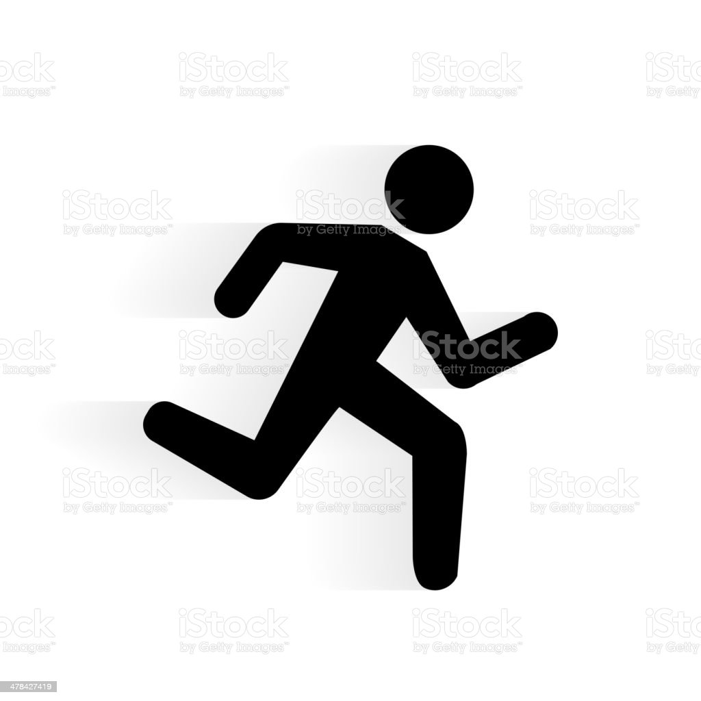 Vector Running Human Icon vector art illustration