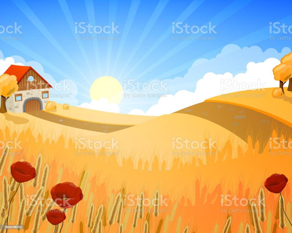 Vector Rural Landscape royalty-free stock vector art