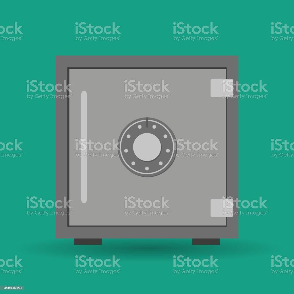 Vector Safe Icon vector art illustration