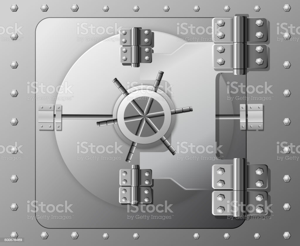 Vector safe vector art illustration