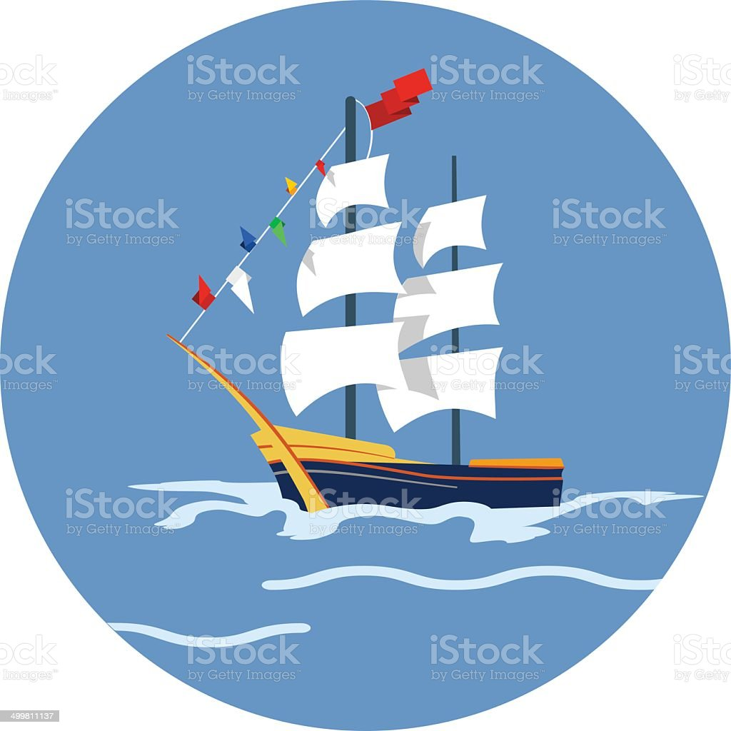 Vector Sailing Vessel vector art illustration