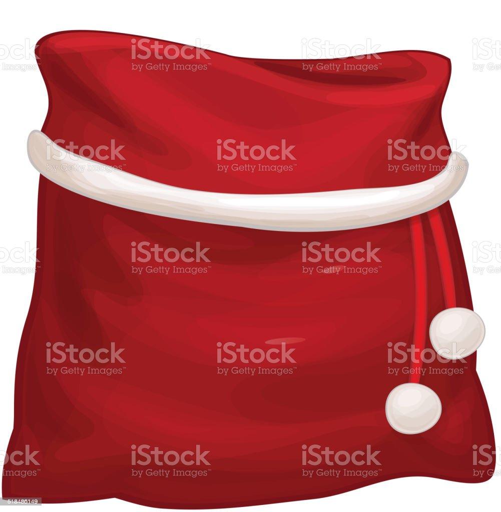 Vector Santa Claus bag isolated. vector art illustration