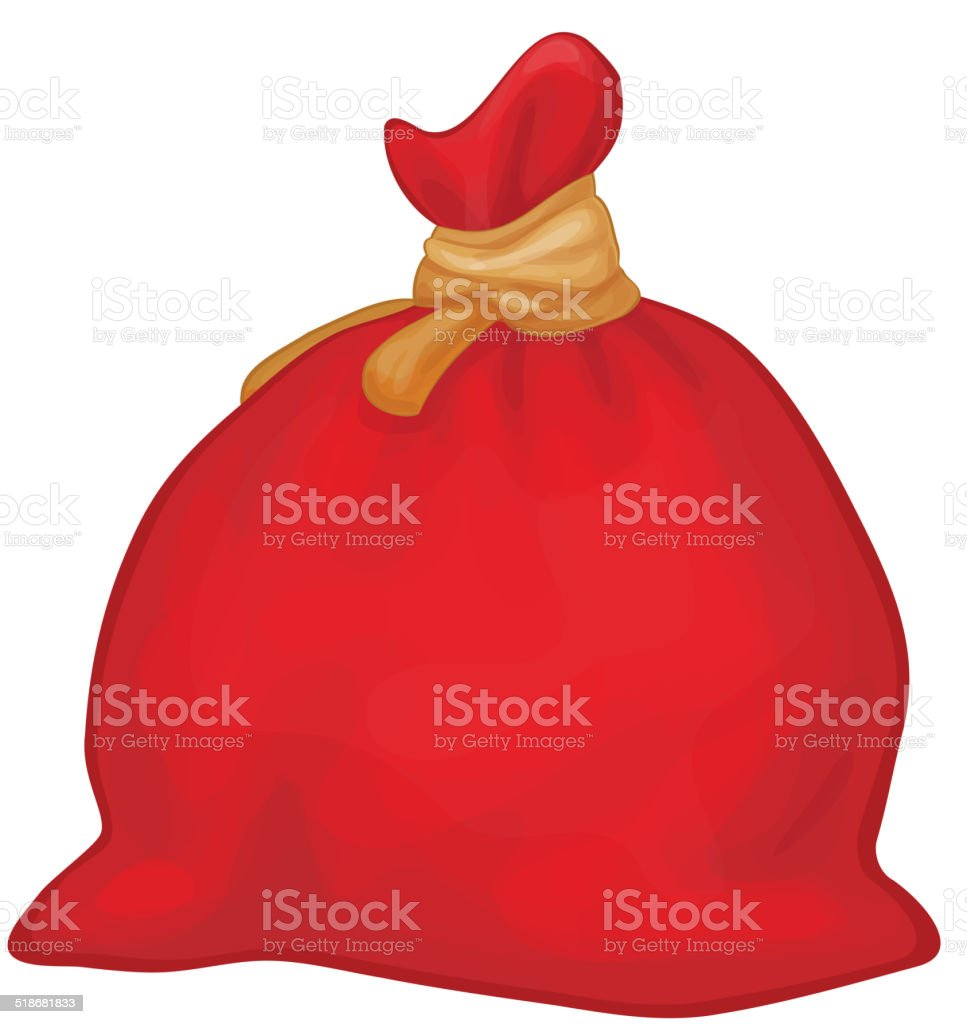 Vector Santa Claus full sack. vector art illustration