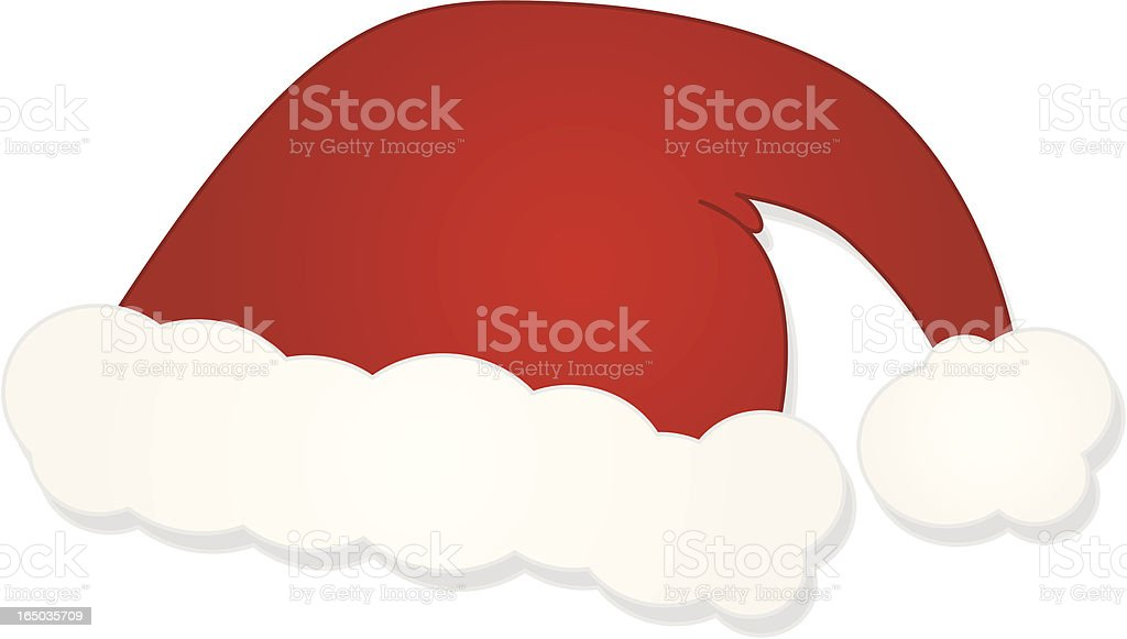 Vector Santa Claus/Father Christmas Hat royalty-free stock vector art