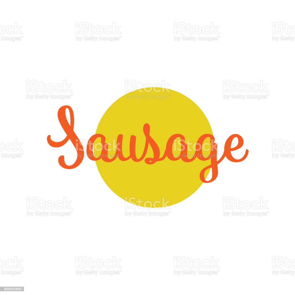 vector sausage lettering inscription isolated vector art illustration
