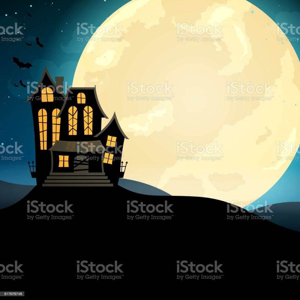 Vector Scary Halloween Design vector art illustration