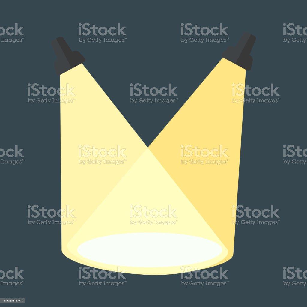 Vector scene light. vector art illustration