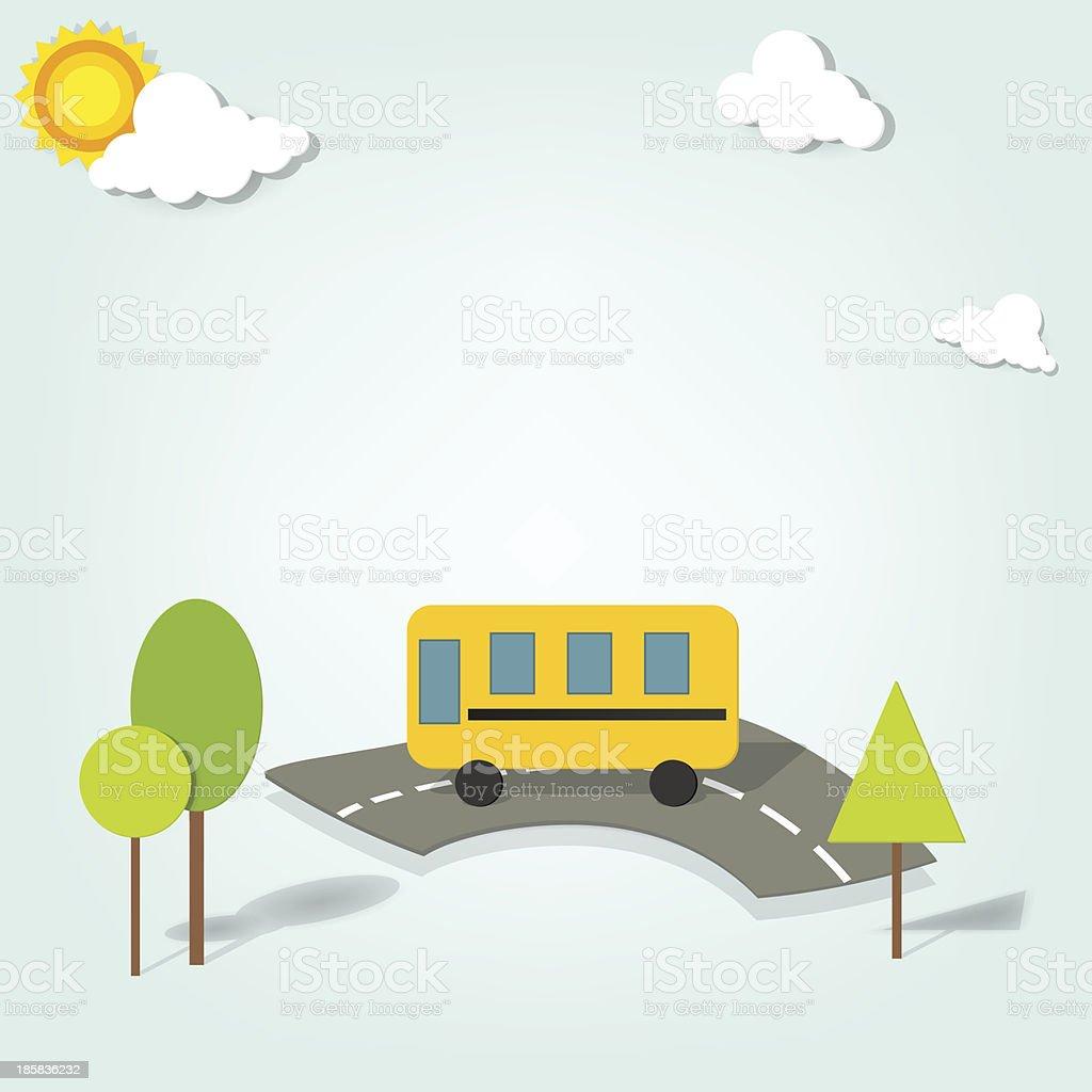 Vecteur bus scolaire stock vecteur libres de droits libre de droits