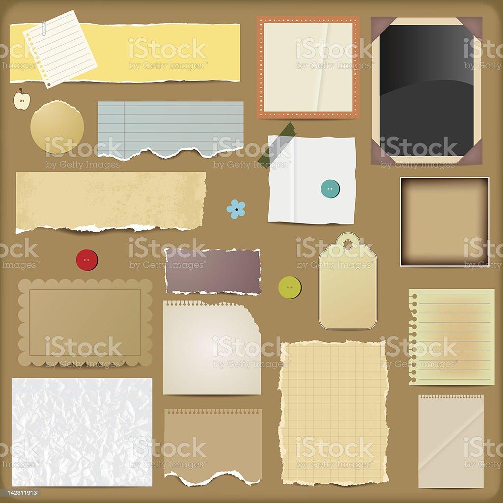 Vector Scrapbooking Paper Elements vector art illustration