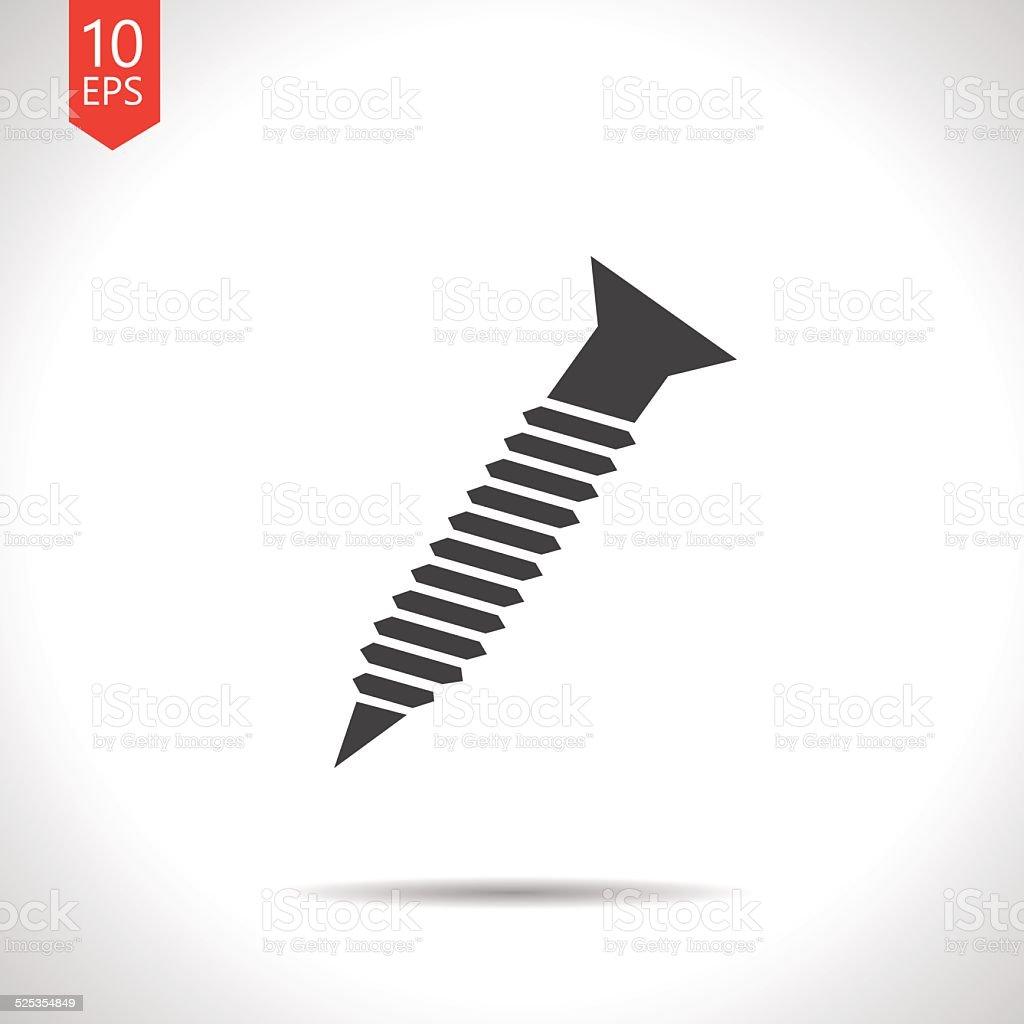 Vector  screw icon. Eps10 vector art illustration