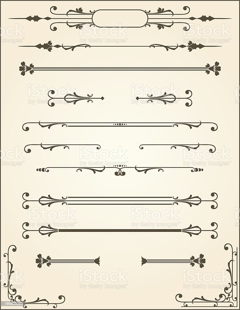 Vector Scroll Dividers royalty-free stock vector art