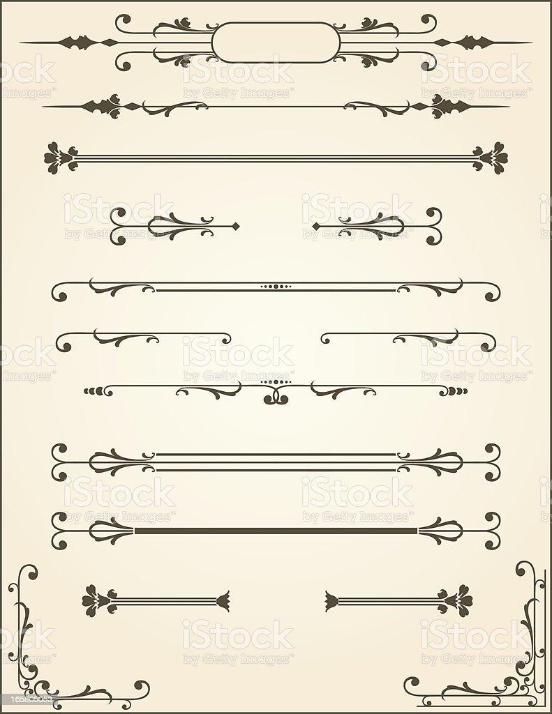 Vector Scroll Dividers vector art illustration