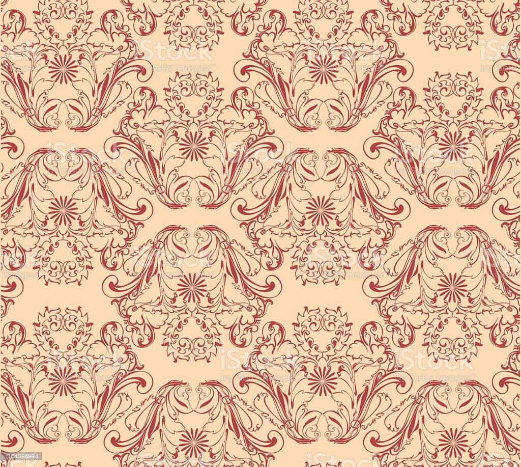 Vector seamless background Floral pattern vector art illustration