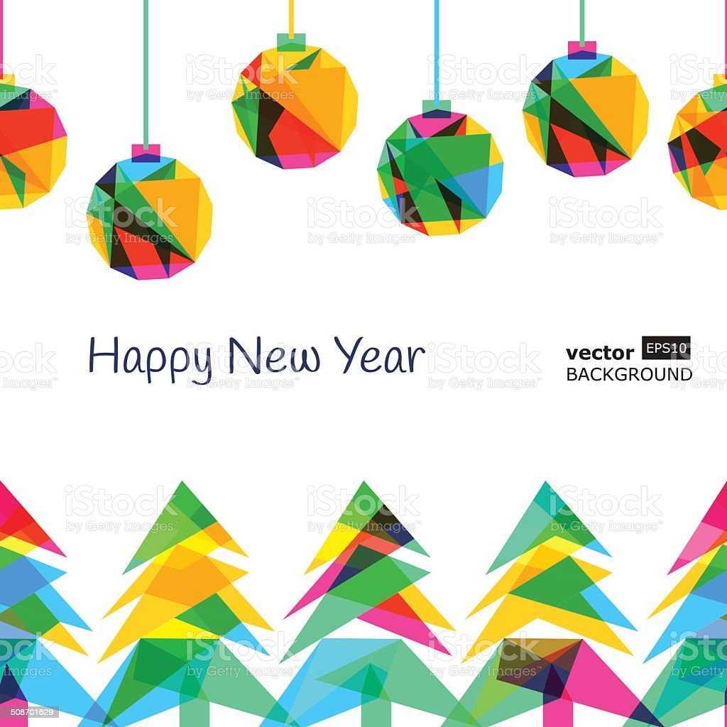 Vector seamless background, New Year 2015 vector art illustration