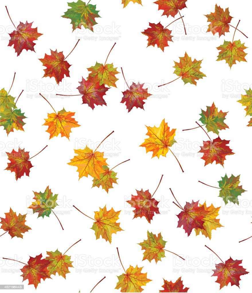 Vector seamless background of autumnal leaves. royalty-free stock vector art