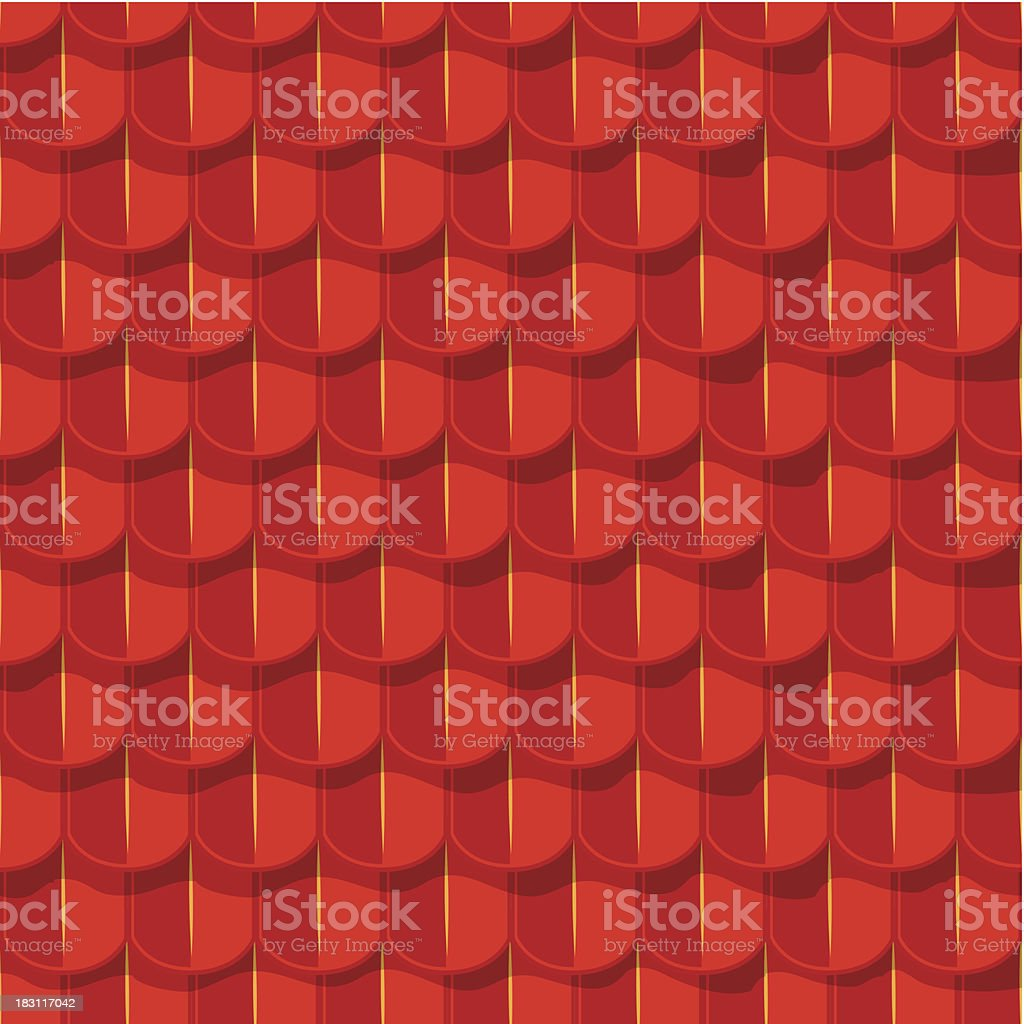 Vector seamless background. Red tile roof royalty-free stock vector art