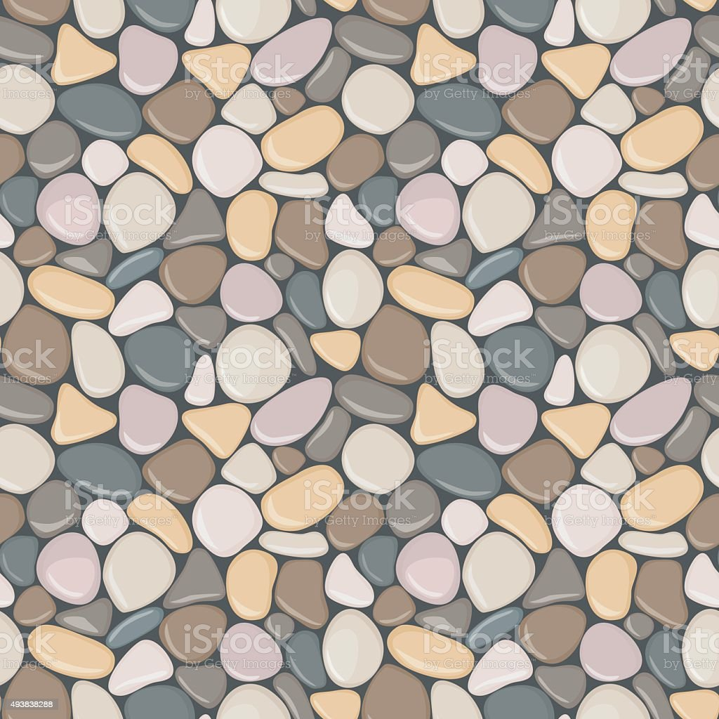 Vector seamless background with smooth pebble vector art illustration
