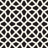 Vector Seamless Black and White Mosaic Lattice Pattern