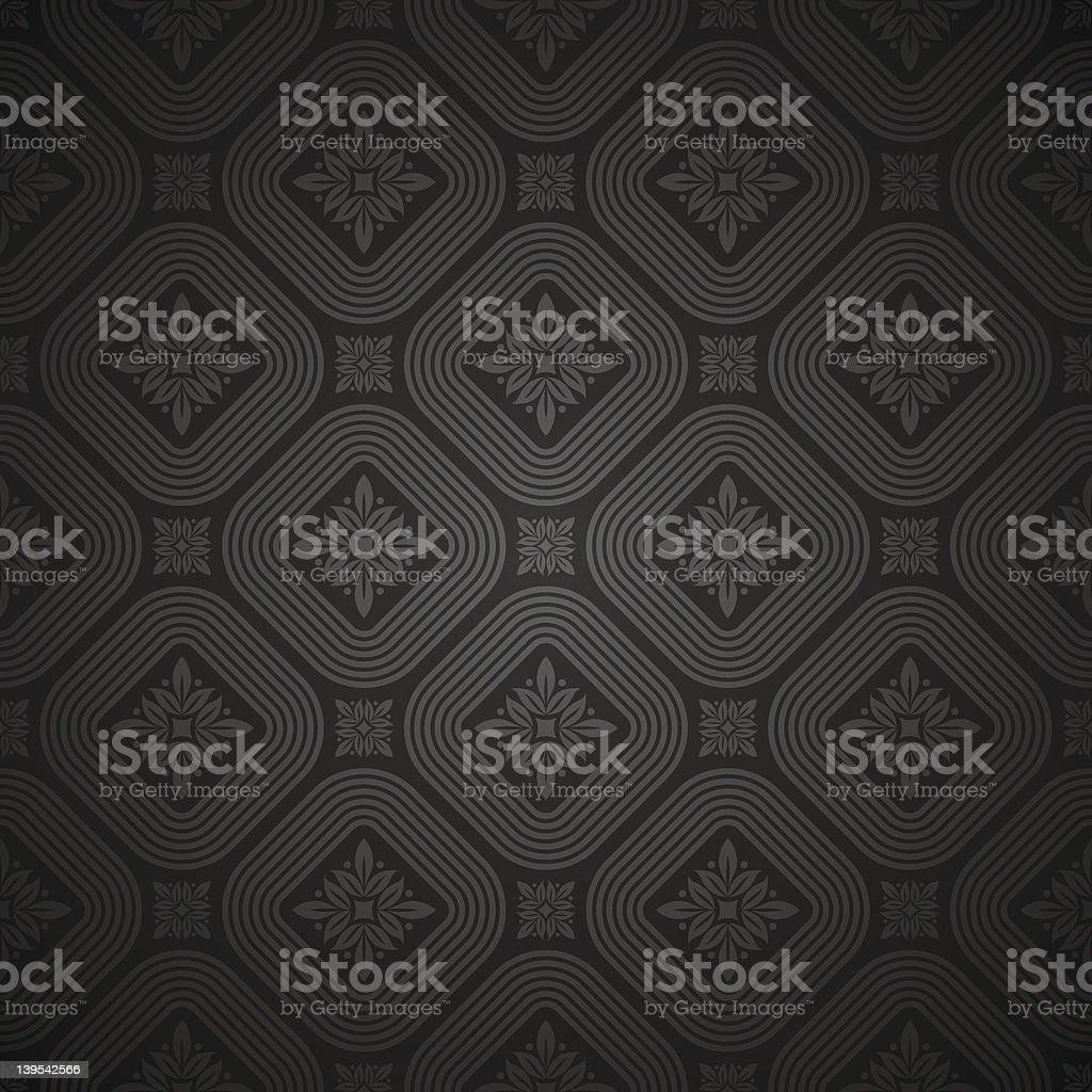 Vector seamless black pattern royalty-free stock vector art