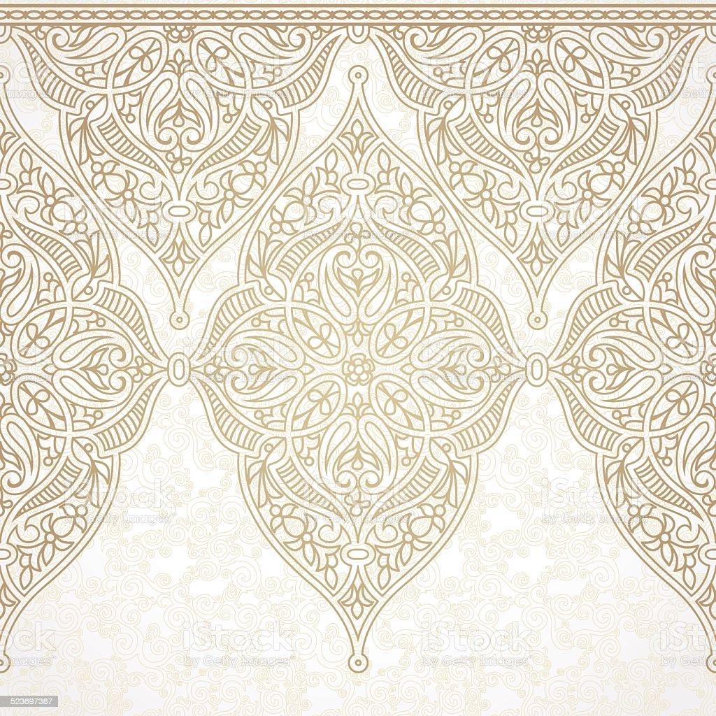 Vector seamless border in Eastern style. vector art illustration
