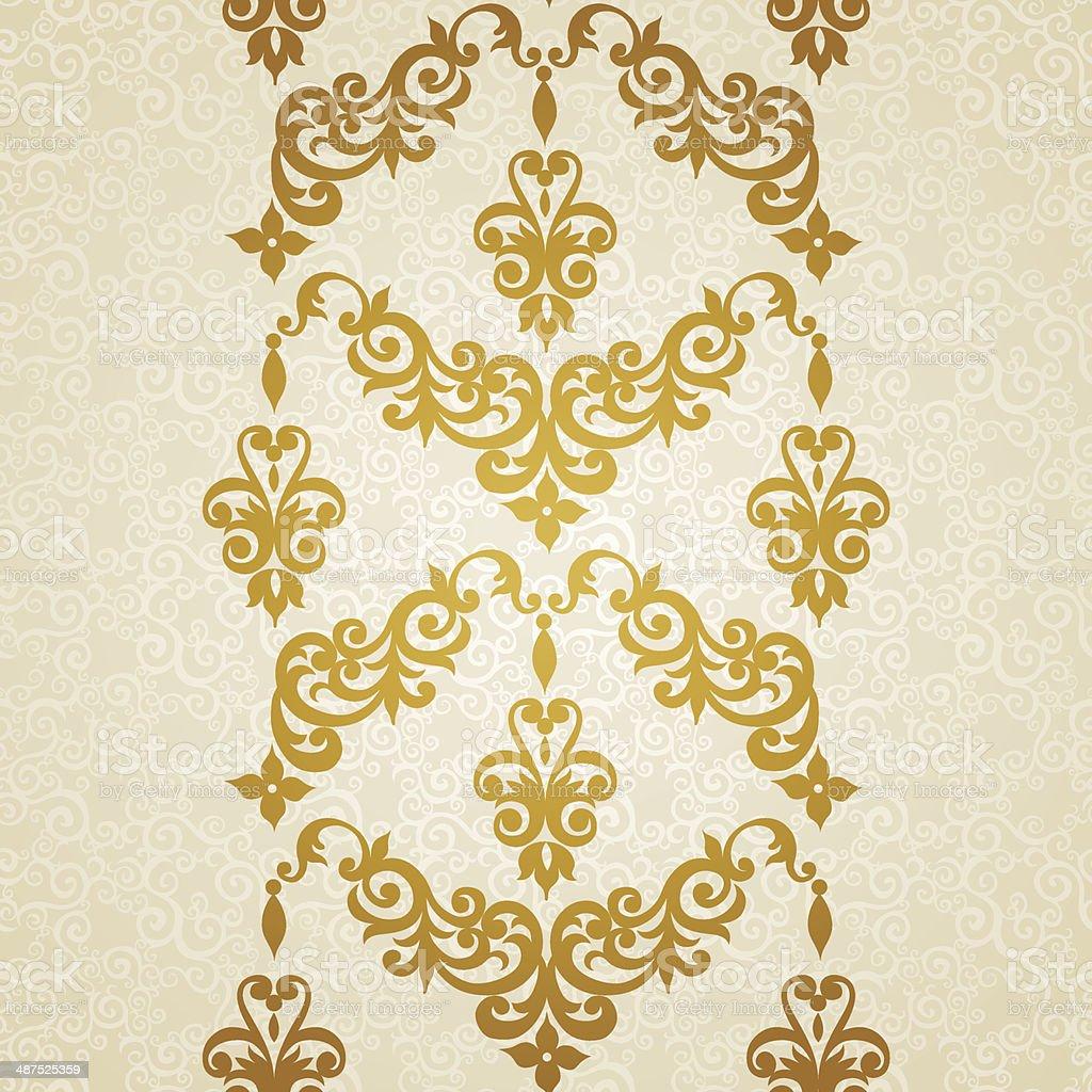 Vector seamless border in Victorian style. vector art illustration