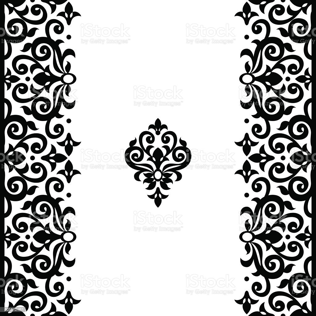 Vector seamless border in Victorian style. vector art illustration