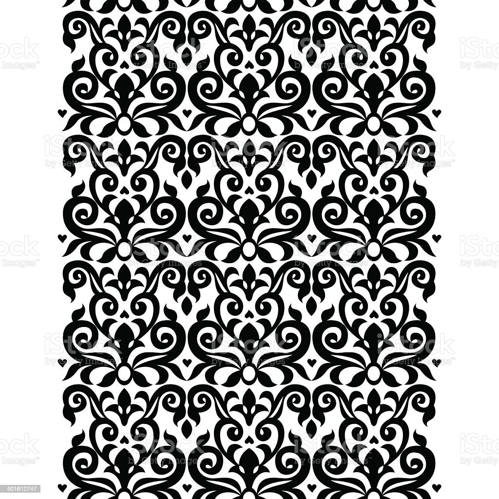 Vector seamless border in Victorian style. royalty-free stock vector art