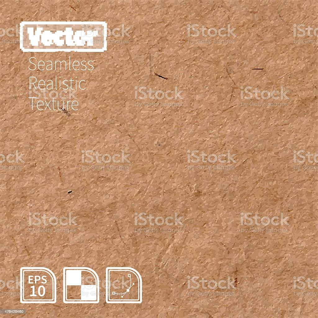 Vector seamless brown rice paper photo texture. vector art illustration
